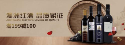 进口葡萄酒每满199-100