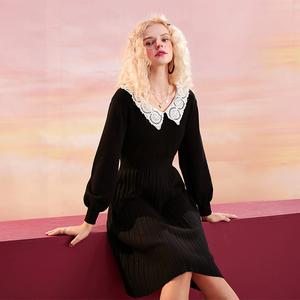 5日0点、38节预告:妖精的口袋 10400194 女士法式蕾丝连衣裙