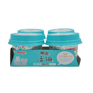 明治 meiji 活俪 低脂肪 含膳食纤维 100g*4杯