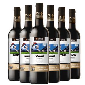 张裕先锋 西班牙原瓶进口红酒 爱欧公爵(ATRIO)德比梦干红葡萄酒750ml*6瓶 整箱装 *2件