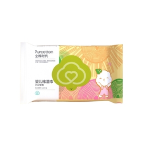 PurCotton 全棉时代 婴儿纯棉湿巾 80片*3包