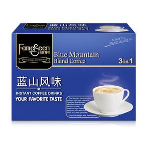 京东PLUS会员:马来西亚进口 名馨(fameseen)花式蓝山风味速溶咖啡180g(18克×10条) *3件