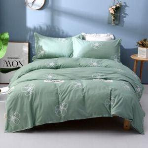 纯棉四件套 全棉被套200X230+床单230X240+枕套75X50cm