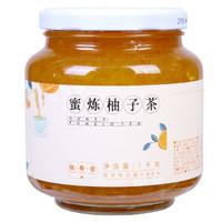 恒寿堂 蜂蜜柚子茶1000g 蜜炼柚子茶冲饮果茶花果茶酱1kg大罐装 *2件