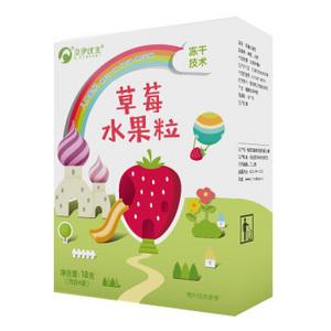 京东PLUS会员:欧瑞园 宝宝冻干草莓水果粒18g *13件