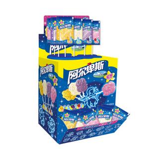阿尔卑斯星座棒棒糖混合口味60支礼盒装 儿童糖果 创意棒棒糖 聚会分享 600g *2件